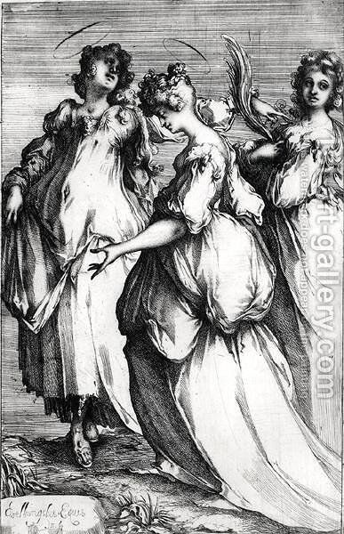 Three Holy Women by Jacques Bellange - Reproduction Oil Painting
