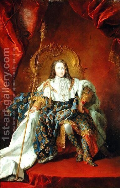 Louis XV (2) by Alexis-Simon Belle - Reproduction Oil Painting