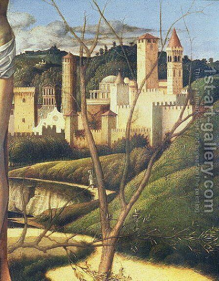 Crucifixion (detail) by Giovanni Bellini - Reproduction Oil Painting