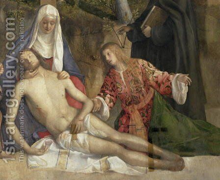 Mourning the Dead Christ at the Foot of the Cross by Giovanni Bellini - Reproduction Oil Painting