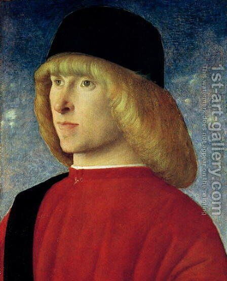 Portrait of a Young Senator 1485-90 by Giovanni Bellini - Reproduction Oil Painting
