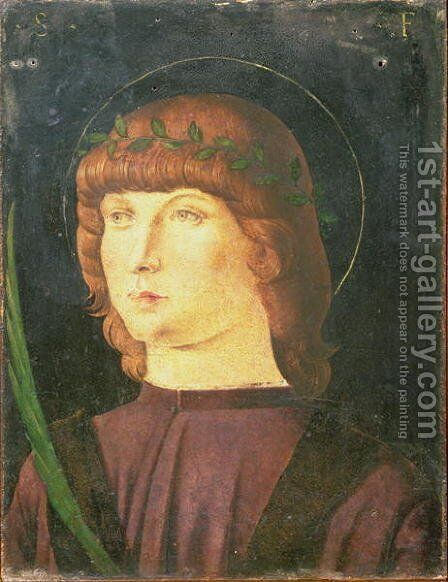 Portrait of St.Lawrence Giustiniani, Bishop of Venice by Giovanni Bellini - Reproduction Oil Painting