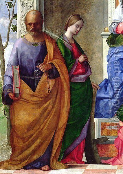 San Zaccaria Altarpiece 1505 by Giovanni Bellini - Reproduction Oil Painting