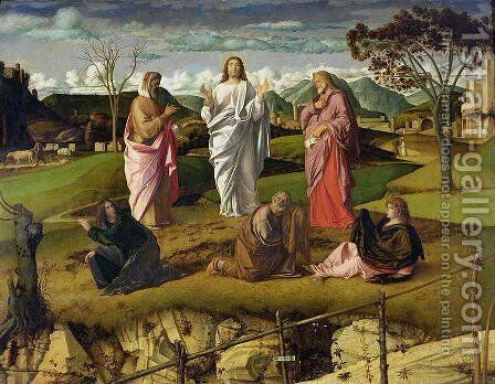 The Transfiguration 1480 by Giovanni Bellini - Reproduction Oil Painting
