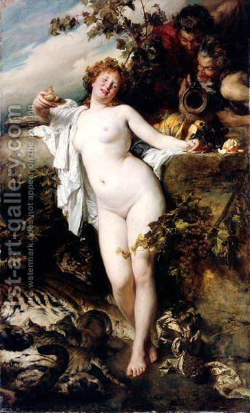 Bacchante by Gyula Benczur - Reproduction Oil Painting
