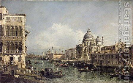 Entrance to the Grand Canal, Venice by Bernardo Bellotto (Canaletto) - Reproduction Oil Painting