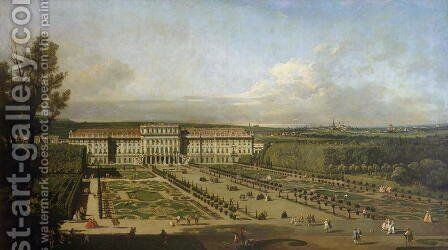 Schonbrunn Palace and gardens, 1759-61 by Bernardo Bellotto (Canaletto) - Reproduction Oil Painting