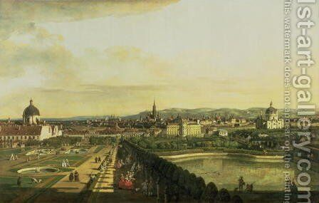 The Belvedere from Gesehen, Vienna by Bernardo Bellotto (Canaletto) - Reproduction Oil Painting