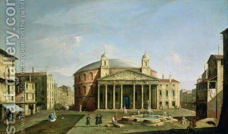 The Pantheon in Rome by Bernardo Bellotto (Canaletto) - Reproduction Oil Painting