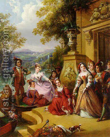 Spring 1852 by Siegfried Detler Bendixen - Reproduction Oil Painting
