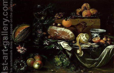 Still Life by Andries Benedetti - Reproduction Oil Painting