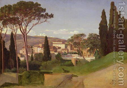 View of a Roman Villa  1844 by Jean Achille Benouville - Reproduction Oil Painting
