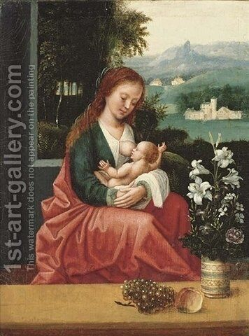 The Virgin and Child by Ambrosius Benson - Reproduction Oil Painting