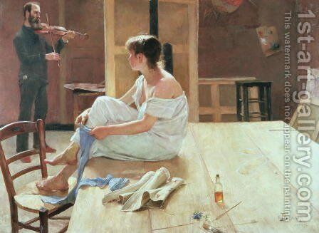 After the Pose, 1884 by Sven Richard Bergh - Reproduction Oil Painting