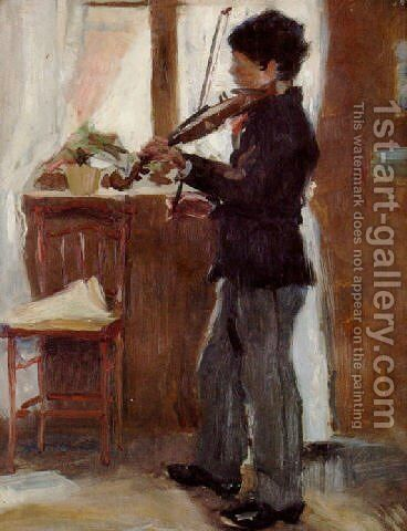 Violinist by Sven Richard Bergh - Reproduction Oil Painting