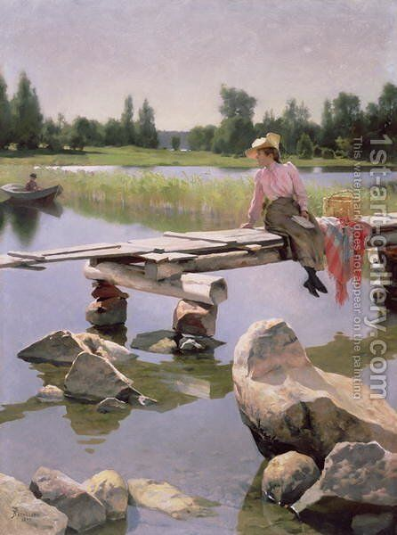 Summer by Gunnar Fredrik Berndtson - Reproduction Oil Painting
