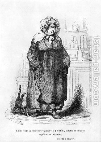 Madame Vauquer, illustration from 'Le Pere Goriot' by Honore de Balzac by (Albert d'Arnoux) Bertall - Reproduction Oil Painting