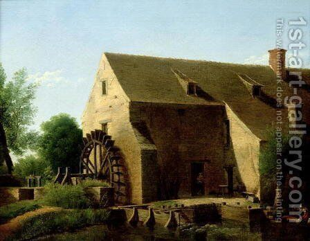 A Mill, 1800-06 by Jean-Victor Bertin - Reproduction Oil Painting