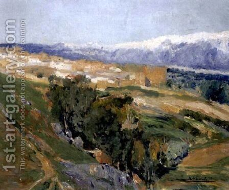 The Guadarrama Mountains by Aureliano de Beruete y Moret - Reproduction Oil Painting