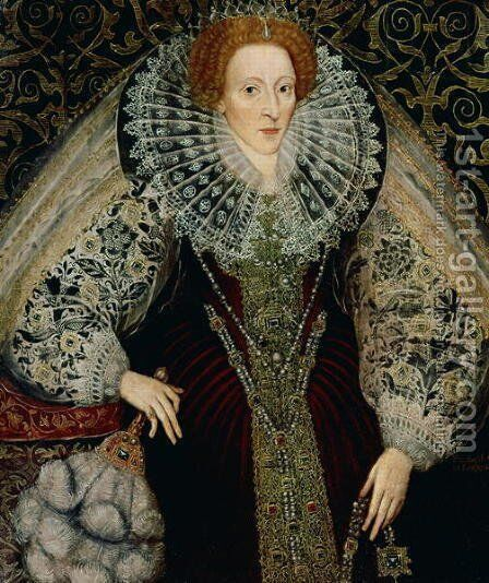 Queen Elizabeth I, c.1585-90 by Mary Ellen Best - Reproduction Oil Painting