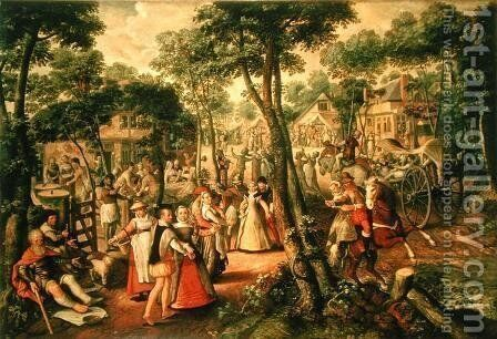 Country Celebration, 1563 by Joachim Beuckelaer - Reproduction Oil Painting