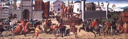 The Siege of Troy II- The Wooden Horse, c.1490-95 by Biagio D'Antonio - Reproduction Oil Painting