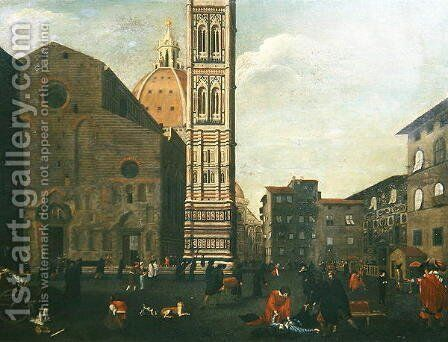 The Plague in Florence in 1630 by Baccio del Bianco - Reproduction Oil Painting