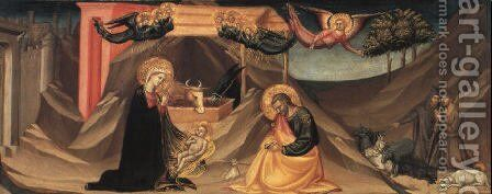 The Nativity and the Adoration of the Shepherds by Bicci Di Lorenzo - Reproduction Oil Painting