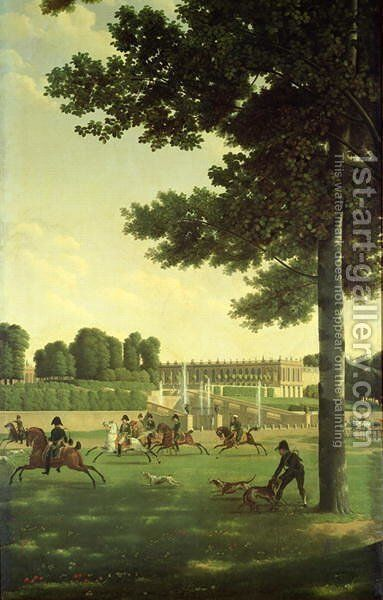 The Open Space in Front of the Grand Trianon, 1810 by Jean-Joseph-Xavier Bidauld - Reproduction Oil Painting