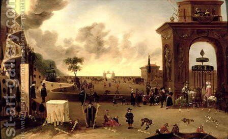 The Narrow Gate to Heaven and the Wide Gate to Hell by Cornelis de Bie - Reproduction Oil Painting