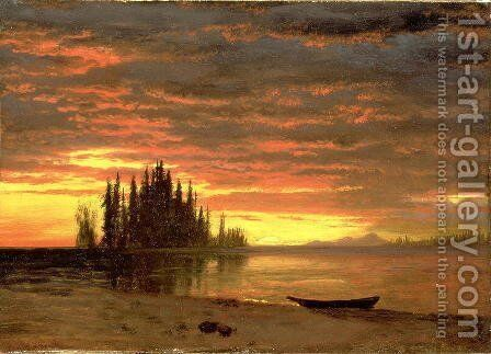 California Sunset by Albert Bierstadt - Reproduction Oil Painting