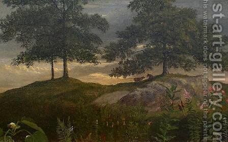 Landscape with Cows by Albert Bierstadt - Reproduction Oil Painting