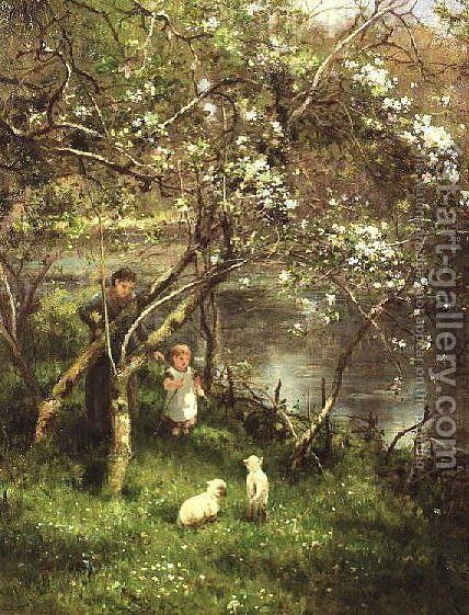 Springtime by James George Bingley - Reproduction Oil Painting