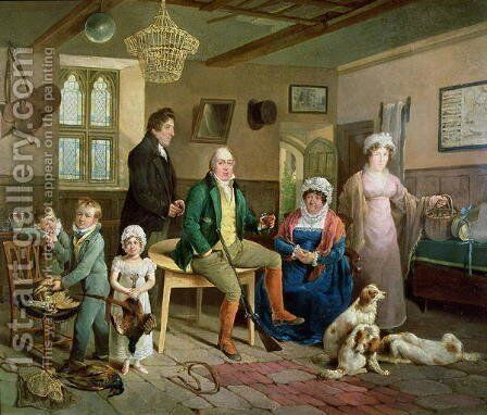Mr Rickett's Return from Shooting by Edward Bird - Reproduction Oil Painting
