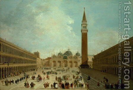 San Marco, Venice by Giuseppe Bernardino Bison - Reproduction Oil Painting