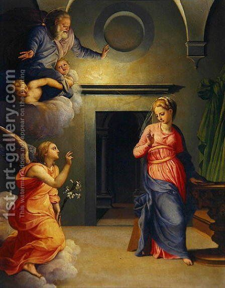The Annunciation by Giovanni Bizzelli - Reproduction Oil Painting