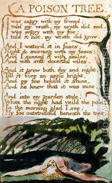 A Poison Tree, from Songs of Experience by William Blake - Reproduction Oil Painting