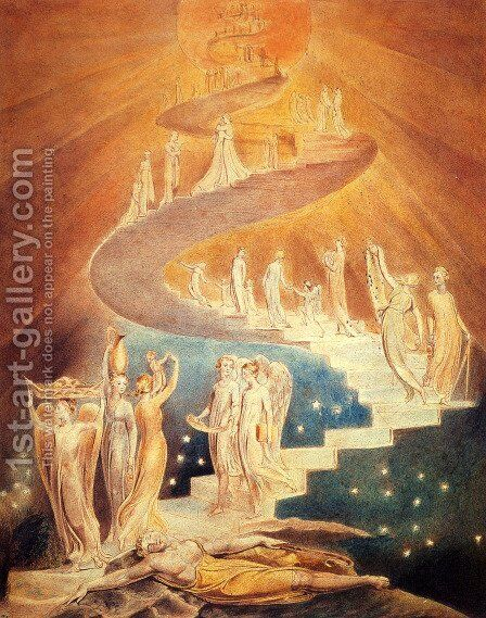 Jacob's Ladder by William Blake - Reproduction Oil Painting