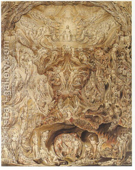 Last Judgement 1808 by William Blake - Reproduction Oil Painting