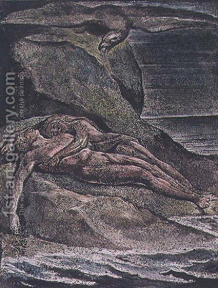 Milton a Poem- Albion on the rock, 1804 by William Blake - Reproduction Oil Painting