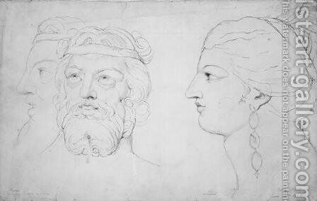 Pindar and Lais, 1820 by William Blake - Reproduction Oil Painting