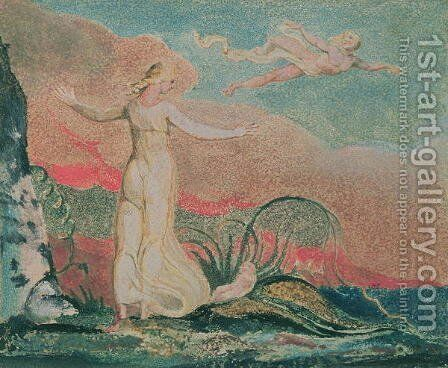 The Book of Thel; Plate 4 Thel in the Vale of Har, 1794 by William Blake - Reproduction Oil Painting
