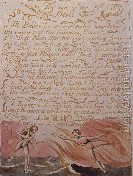 The Marriage of Heaven and Hell- The Voice of the Devil, c 1790