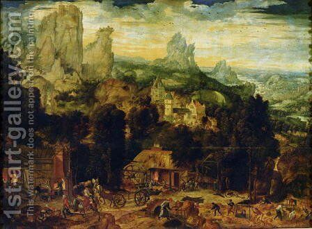 The Coppermine by Herri met de Bles - Reproduction Oil Painting
