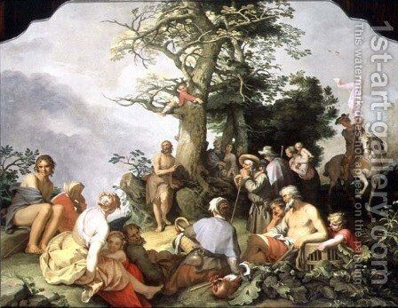 St. John the Baptist preaching by Abraham Bloemaert - Reproduction Oil Painting
