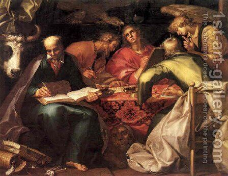 The Four Evangelists Writing the Gospels by Abraham Bloemaert - Reproduction Oil Painting