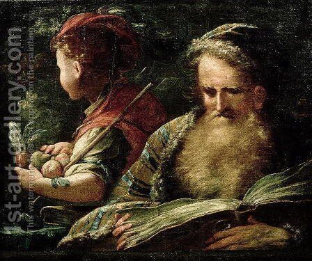 Youth and Age by Abraham Bloemaert - Reproduction Oil Painting