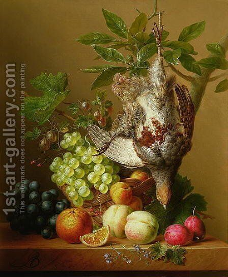 Still Life with Fruit and a Dead Partridge by Arnoldus Bloemers - Reproduction Oil Painting