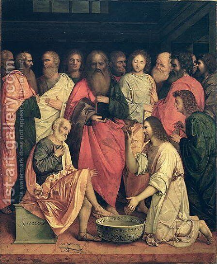 Christ Washing the Disciples' Feet by Boccaccio Boccaccino - Reproduction Oil Painting