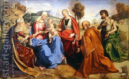 The Marriage of St. Catherine, with St. Rosa, St. Peter and St. John the Baptist, 1506 by Boccaccio Boccaccino - Reproduction Oil Painting